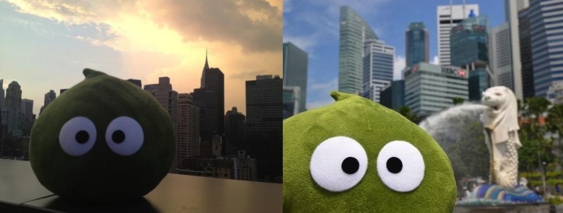 NY、シンガポール