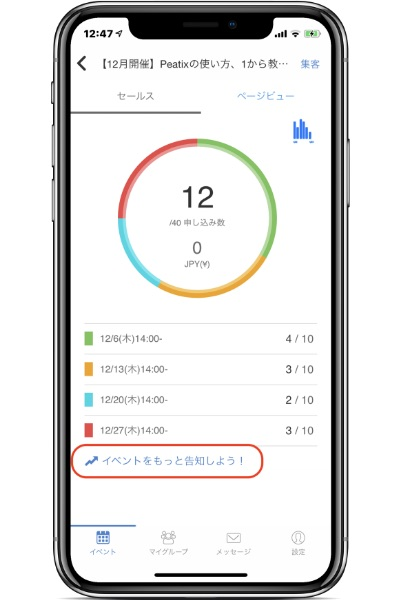 ールス情報/ページビュー情報